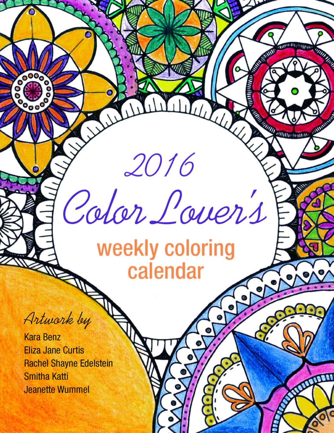 2016 Color Lover's Weekly Calendar