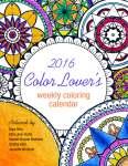 2016 Color Lover's Weekly Calendar