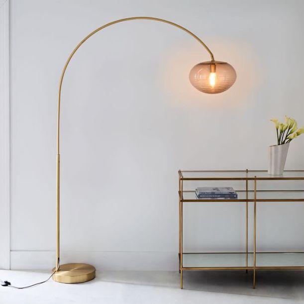 overarching ripple floor lamp